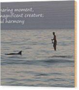 Sup With Dolphin - Haiku Wood Print