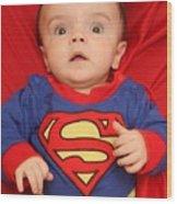 Super Baby Wood Print