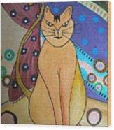 Super-cat Wood Print