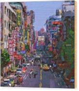 Super Colorful City Wood Print