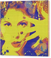 Super-girl. Wood Print