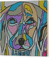 Super Hero - Contemporary Dog Art Wood Print