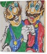 Super Mario Brothers Wood Print