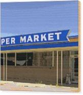 Super Market Wood Print