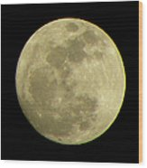 Super Moon March 19 2011 Wood Print