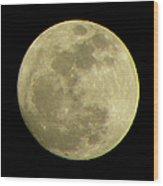 Super Moon March 19 2011 Wood Print