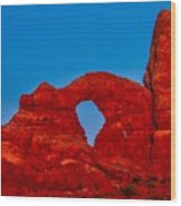 Super Moon Over Arches National Park Wood Print
