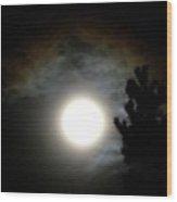 Super Moon Over British Columbia Wood Print