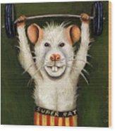 Super Rat Wood Print