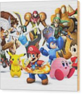 Super Smash Bros. For Nintendo 3ds And Wii U Wood Print
