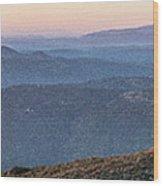#superbloom Sunset Wood Print