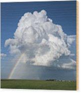 Supercell Rainbow Wood Print