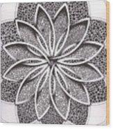 Superfactorial Flower Wood Print