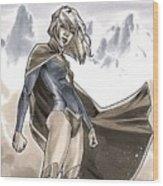 Supergirl Wood Print