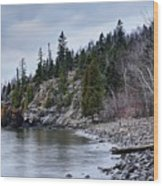 Superior Cliffs Wood Print