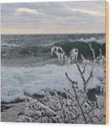 Superior January Waves Wood Print