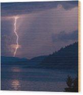 Superior Lightning     Wood Print
