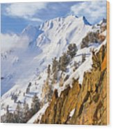 Superior Peak In The Utah Wasatch Mountains  Wood Print