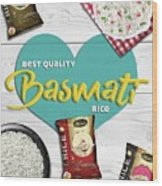 Superior Quality Basmati Rice Importers In New Zealand - Kashish Food Wood Print
