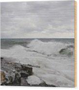 Superior Wild Waves Wood Print