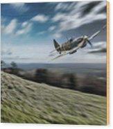 Supermarine Spitfire Fly Past Wood Print