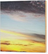 Supernatural Sunset One Wood Print