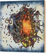 Supernova In Harlequin Wood Print