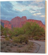 Superstition Mountains Arizona Wood Print