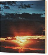 Superstition Sunrise Wood Print