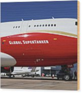 Supertanker At Colorado Springs Wood Print