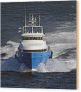 Supply Boat  Wood Print