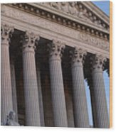 Supreme Court Building Wood Print