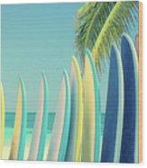 Surfboards Wood Print