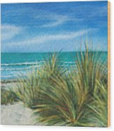 Surf Beach Wood Print