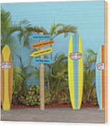 Surf Boards At Ron Jon's Wood Print