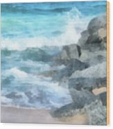 Surf Break Wood Print