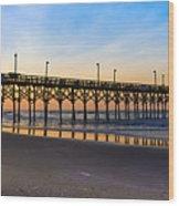 Surf City Fishing Pier Wood Print