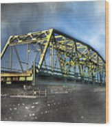 Surf City Nc Swing Bridge Wood Print