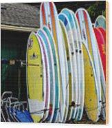 Surf Lessons Wood Print