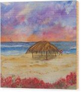 Surf Solitude Wood Print