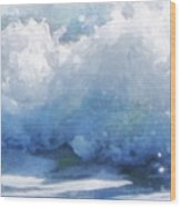Surf Splashes Wood Print