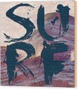 Surf V1 Wood Print