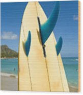 Surfboard Wood Print