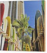 Surfboard Stack Wood Print