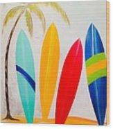 Surfboards II Wood Print