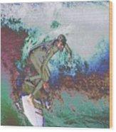 Surfer 3 Wood Print