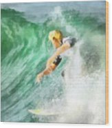Surfer 46 Wood Print