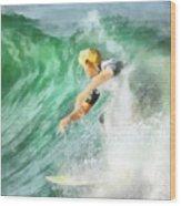 Surfer 46 Wood Print