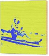 Surfer Girl 1940s Wood Print