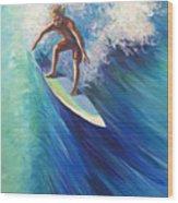 Surfer II Wood Print
